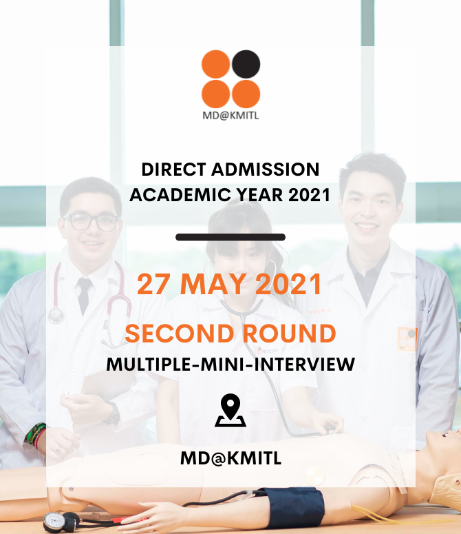 2021 Second Round of the MMI at the Faculty of Medicine, KMITL