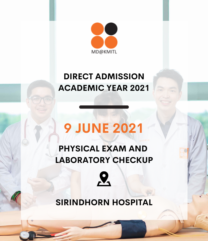 Physical Exam and Laboratory Checkup for the Final Round of 2021 Direct Admission